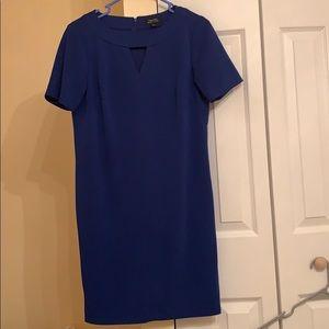 Tahari ASL blue dress